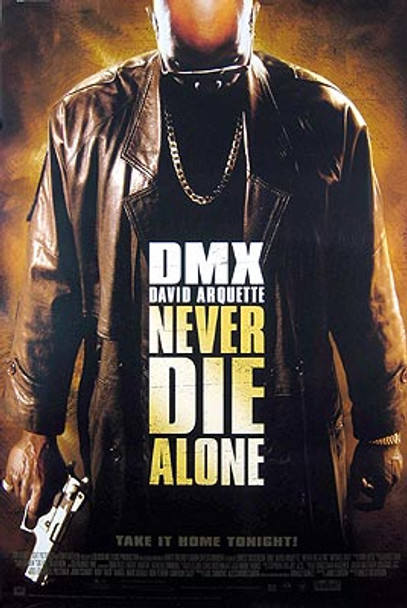 NEVER DIE ALONE (Video) ORIGINAL VIDEO/DVD AD POSTER