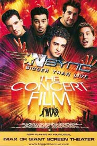 NSYNC: BIGGER THAN LIVE ORIGINAL MUSIC POSTER