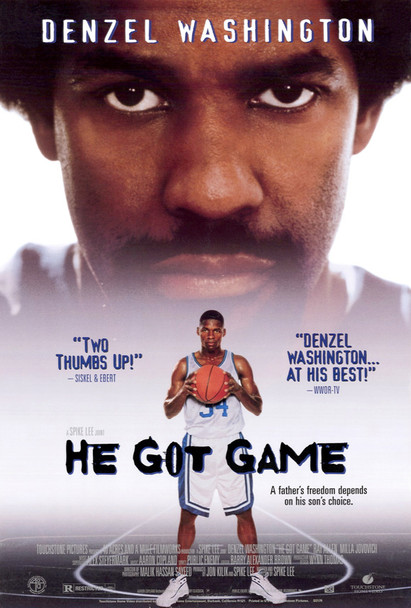 HE GOT GAME (Video) ORIGINAL VIDEO/DVD AD POSTER