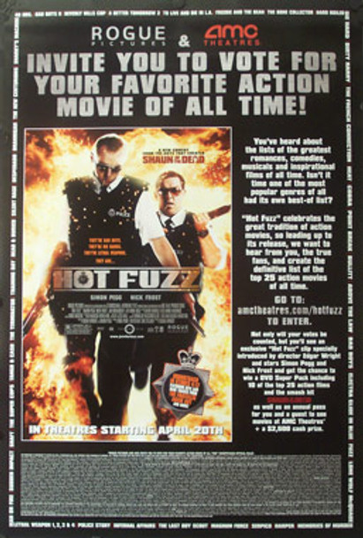 HOT FUZZ (Double Sided) ORIGINAL CINEMA POSTER