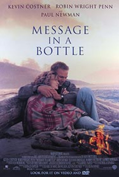 MESSAGE IN A BOTTLE (Video) ORIGINAL VIDEO/DVD AD POSTER