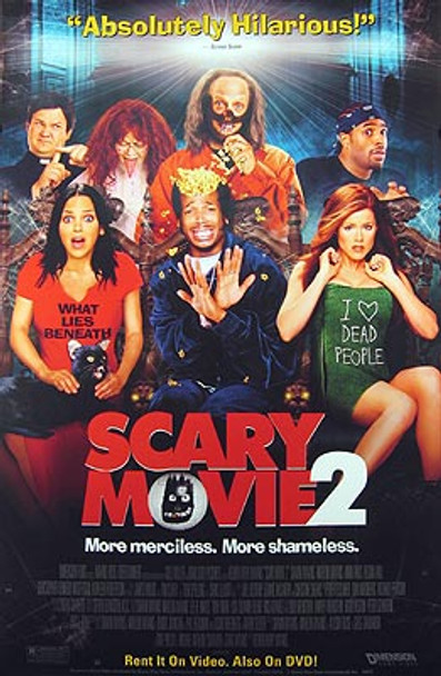 SCARY MOVIE 2 (Video) ORIGINAL VIDEO/DVD AD POSTER