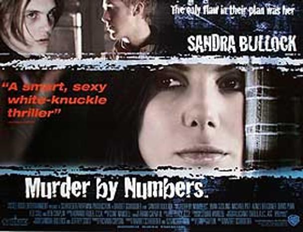 MURDER BY NUMBERS ORIGINAL CINEMA POSTER