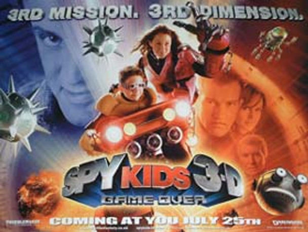 SPY KIDS 3D - GAME OVER (Double Sided Advance) ORIGINAL CINEMA POSTER