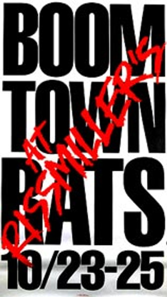 BOOMTOWN RATS ('82 Promo Poster) ORIGINAL MUSIC POSTER