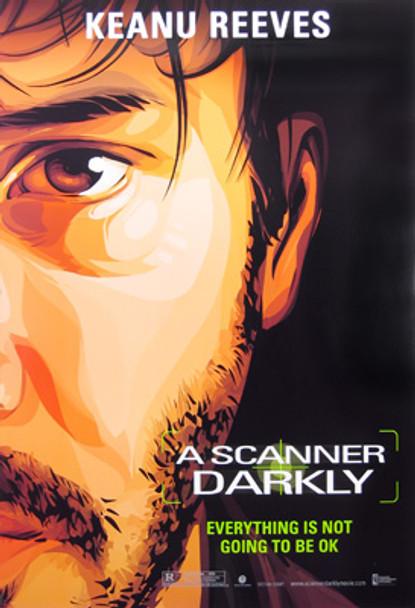 A SCANNER DARKLY (Single Sided Advance Keanu Reeves) ORIGINAL CINEMA POSTER