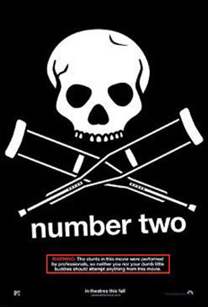 JACKASS: NUMBER TWO (Double Sided Advance) ORIGINAL CINEMA POSTER