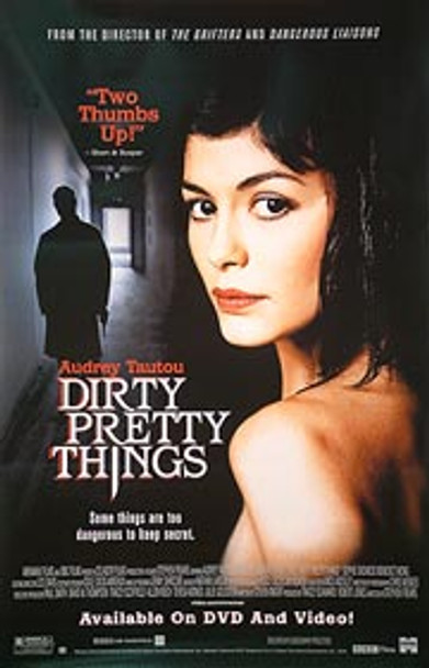 DIRTY PRETTY THINGS (Single Sided Video) ORIGINAL VIDEO/DVD AD POSTER