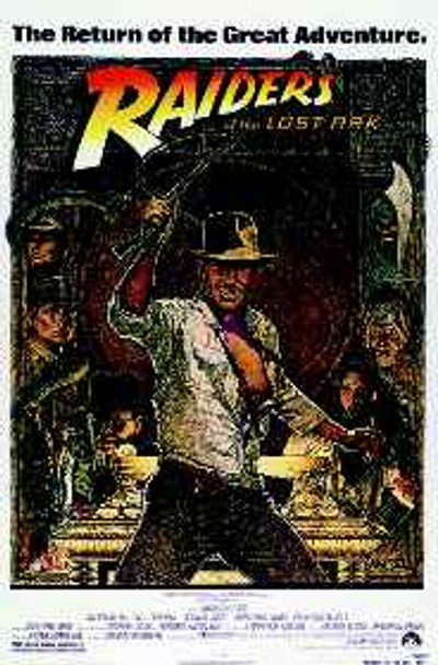 RAIDERS OF THE LOST ARK (1982 Re-release Reprint) REPRINT POSTER