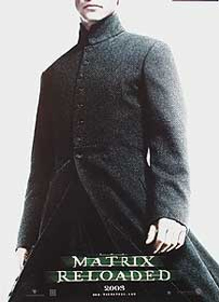 THE MATRIX RELOADED (Single Sided Advance Reprint Neo) REPRINT POSTER