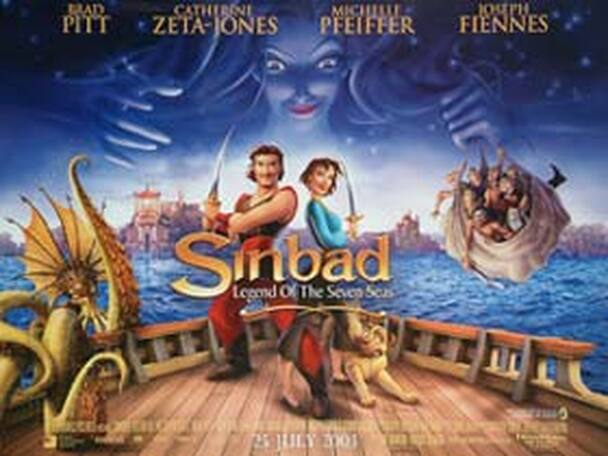 SINBAD LEGEND OF THE SEAS (Double Sided) ORIGINAL CINEMA POSTER