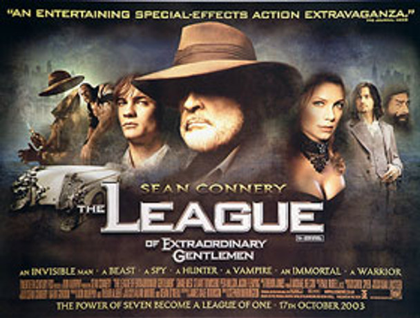 THE LEAGUE OF EXTRAORDINARY GENTLEMEN (DOUBLE SIDED) ORIGINAL CINEMA POSTER