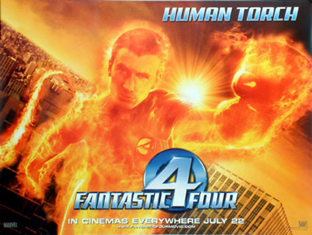 FANTASTIC FOUR (The Human Tourch) ORIGINAL CINEMA POSTER