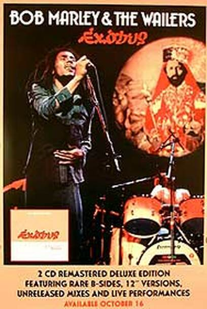 BOB MARLEY & THE WAILERS - EXODUS (Advance) ORIGINAL MUSIC POSTER