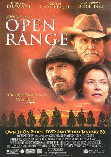 OPEN RANGE (Video) ORIGINAL VIDEO/DVD AD POSTER