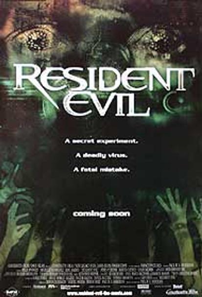 RESIDENT EVIL (Green Advance) ORIGINAL CINEMA POSTER