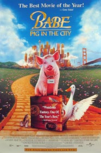 BABE: PIG IN THE CITY (Video) ORIGINAL VIDEO/DVD AD POSTER