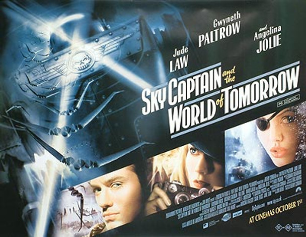 SKY CAPTAIN AND THE WORLD OF TOMORROW (DOUBLE SIDED) ORIGINAL CINEMA POSTER