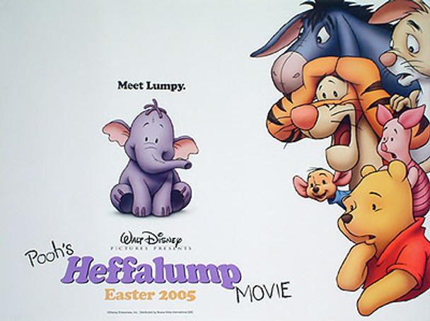 POOH'S HEFFALUMP MOVIE DOUBLE SIDED) ORIGINAL CINEMA POSTER