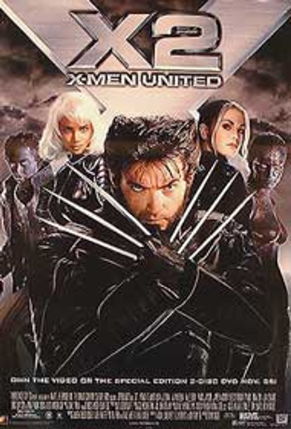 X2 (Single Sided Video) ORIGINAL VIDEO/DVD AD POSTER