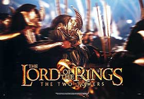THE LORD OF THE RINGS: THE TWO TOWERS (Gold Helmet Reprint) REPRINT POSTER