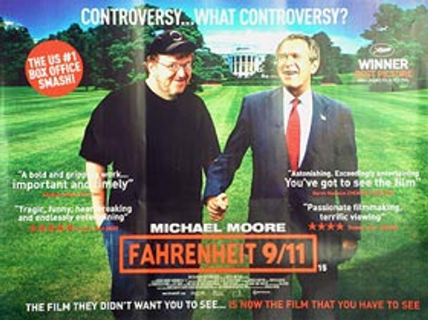 FAHRENHEIT 911 (Single Sided) ORIGINAL CINEMA POSTER
