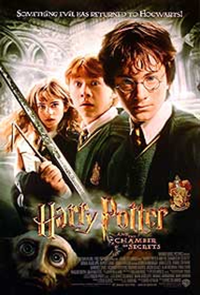 HARRY POTTER AND THE CHAMBER OF SECRETS (Double Sided International) ORIGINAL CINEMA POSTER