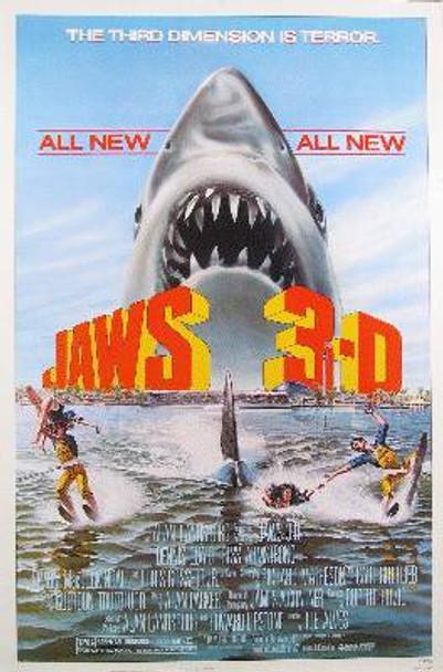 JAWS 3-D (Single Sided Regular) ORIGINAL CINEMA POSTER