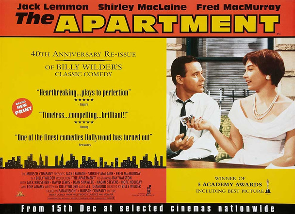 THE APARTMENT (Re-issue) (SINGLE SIDED) ORIGINAL CINEMA POSTER
