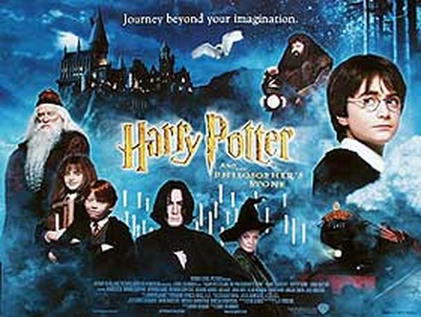 HARRY POTTER AND THE PHILOSOPHER'S STONE (Single Sided) ORIGINAL CINEMA POSTER