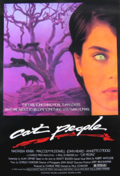 CAT PEOPLE (Purple Border) ORIGINAL CINEMA POSTER