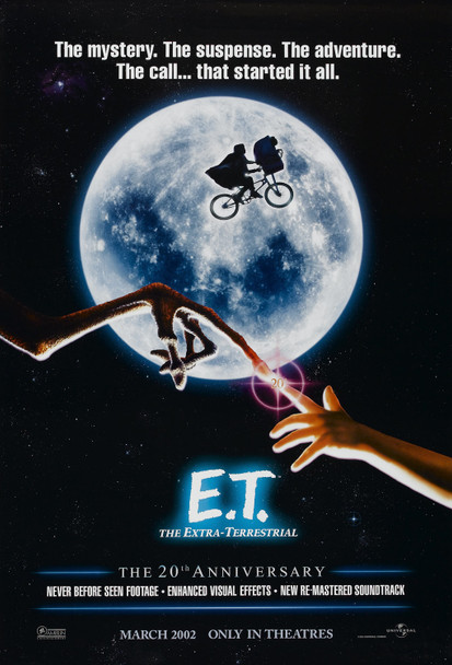E.T. (DOUBLE SIDED 20TH ANNIVERSARY) ORIGINAL CINEMA POSTER
