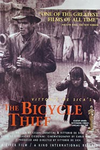 THE BICYCLE THIEF (Single Sided 50th Anniversary) ORIGINAL CINEMA POSTER