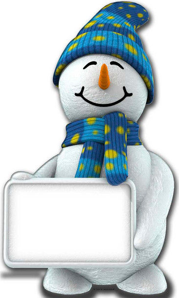 Snowman with Sign - Lifesize Cardboard Cutout / Standee