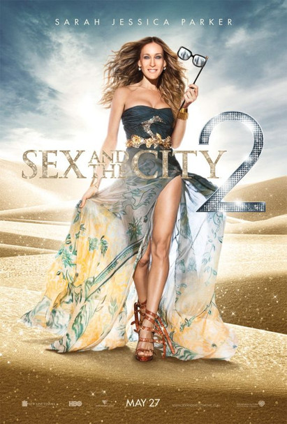 SEX AND THE CITY 2 MOVIE Poster - (Sarah Jessica Parker) double sided REGULAR US ONE SHEET (2010) ORIGINAL CINEMA POSTER