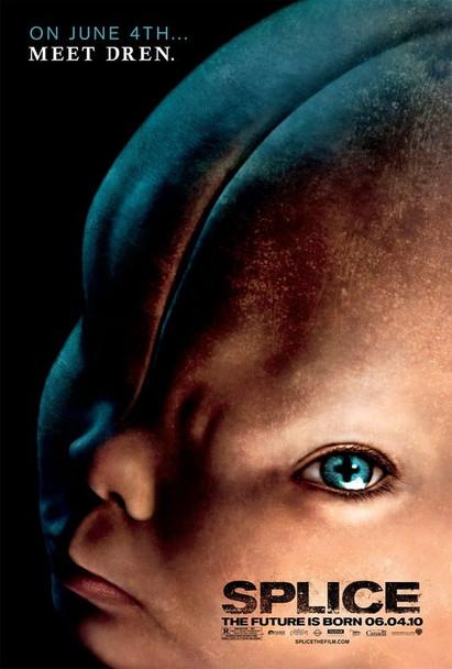 SPLICE Poster - (Adrien Brody) double sided REGULAR US ONE SHEET (2010) ORIGINAL CINEMA POSTER
