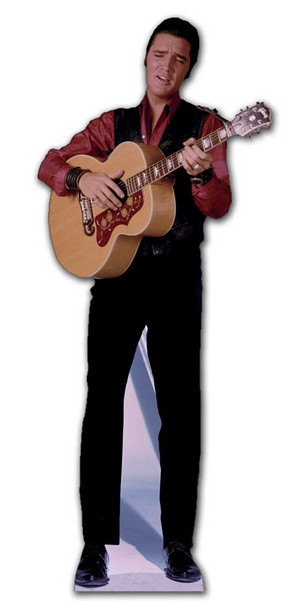 Elvis Singing with Guitar cardboard cutout