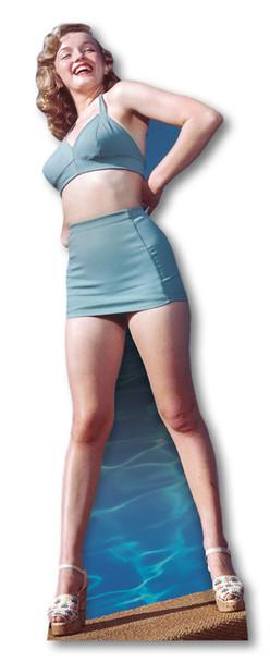 Marilyn Monroe Blue Bikini cardboard cutout