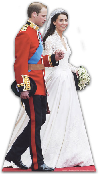 Prince William & Kate Middleton Wedding Dress Cardboard Cutout
