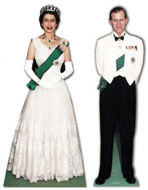 Queen Elizabeth II and Prince Philip - Cardboard Cutout