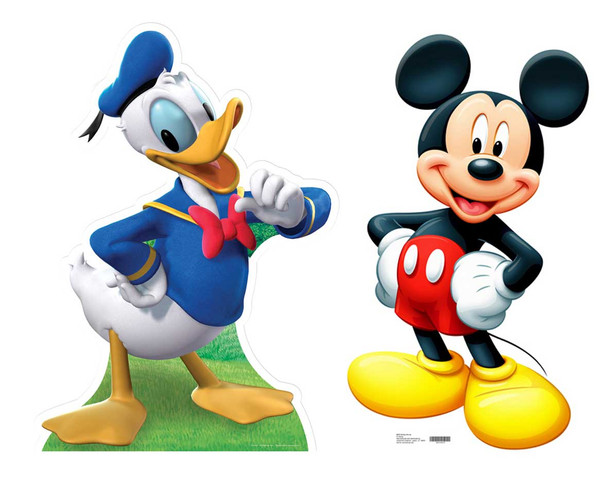 Mickey Mouse & Donald Duck Cutout Set