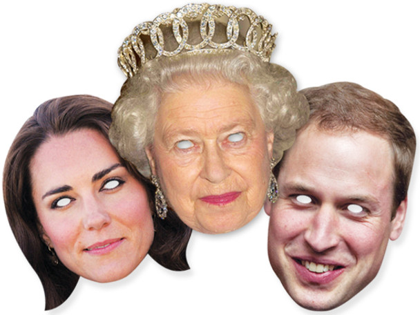 Diamond Jubilee Royal Family Face Mask Set