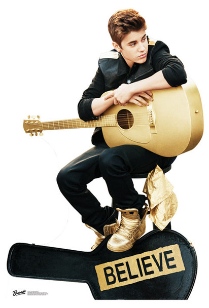 Justin Bieber Believe Lifesize Cardboard Cutout / Standee - Special Edition