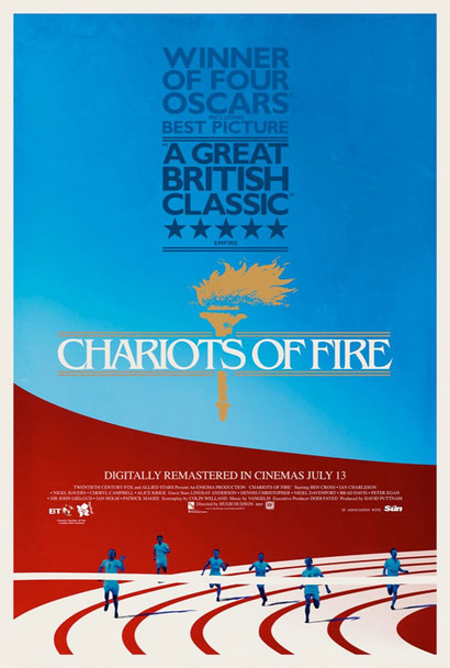CHARIOTS OF FIRE 2012 Re-release Poster