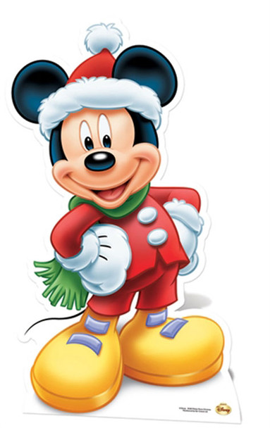 Mickey Mouse Santa Claus Lifesize Cardboard Cutout / Standee
