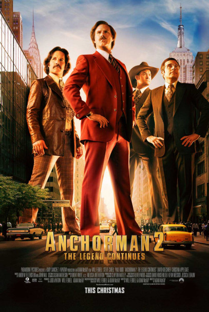 Anchorman 2 Original Movie Poster