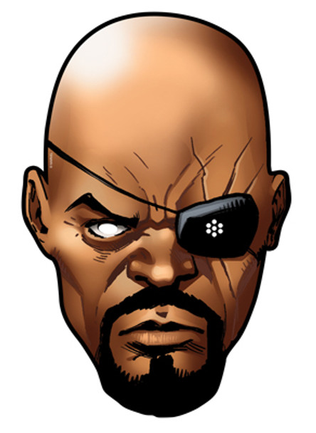Nick Fury Card Party Face Mask