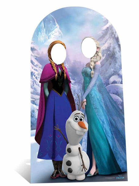 Disney Frozen Anna and Elsa with Olaf Adult Size Cardboard Stand-in Cutout / Standee