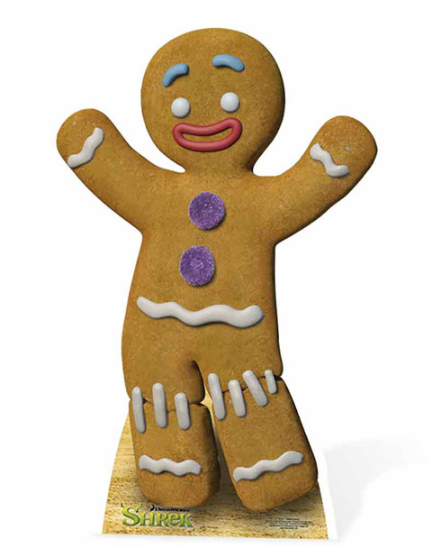 Gingy The Gingerbread Man Cardboard Cutout