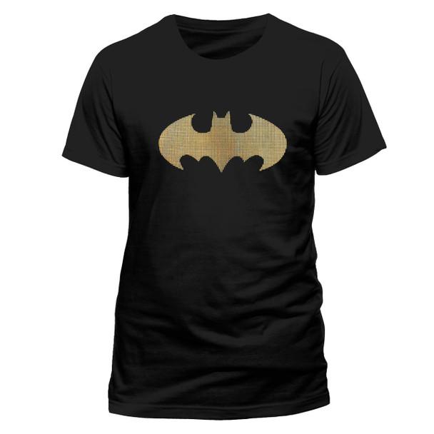 Batman Tri Coloured Dots Logo DC Comics Official Unisex T-Shirt